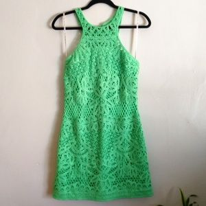 Lilly Pulitzer Lime Green Lace Dress Size Medium